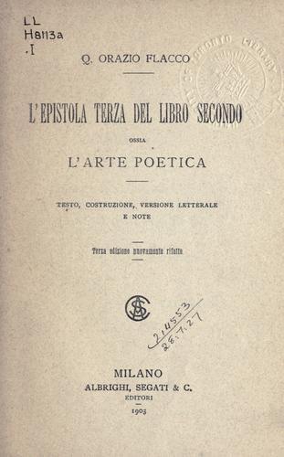 L' epistola terza del libro secondo