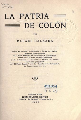 Download La patria de Colón
