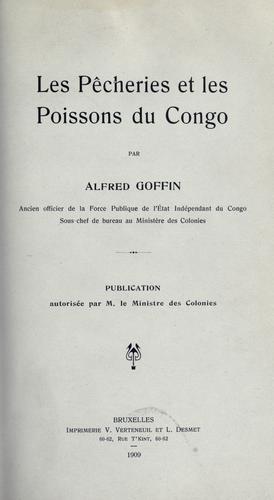 Download Les pêcheries et les poissons du Congo.