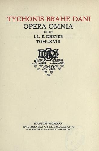 Download Opera omnia, edidit I.L.E. Dreyer.