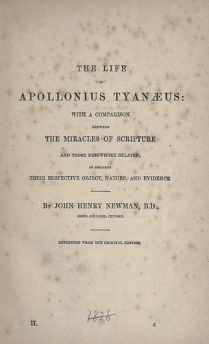 Download The life of Apollonius Tyanaeus