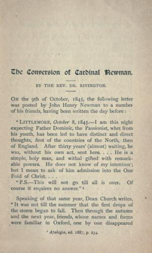 Download The conversion of Cardinal Newman