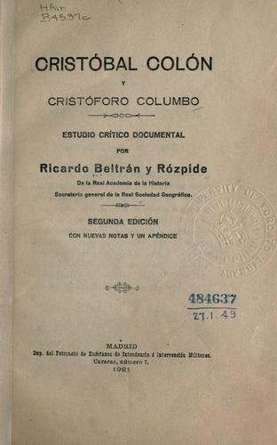 Cristóbal Colón y Cristóforo Columbo
