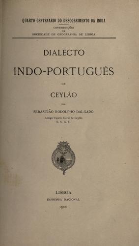 Dialecto indo-português de Ceylão.