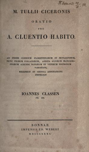 Pro Cluentio.