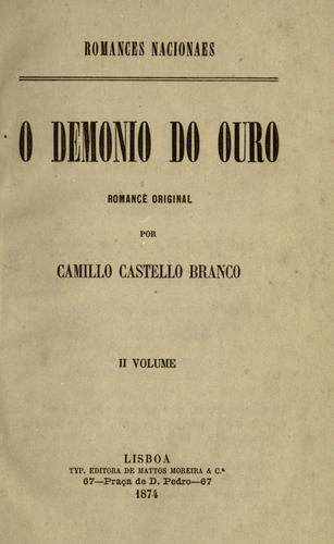 O demonio do ouro, romance original.
