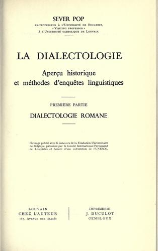 Download La dialectologie