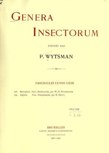 Genera insectorum.