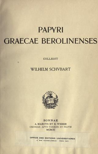 Download Papyri graecae berolinenses