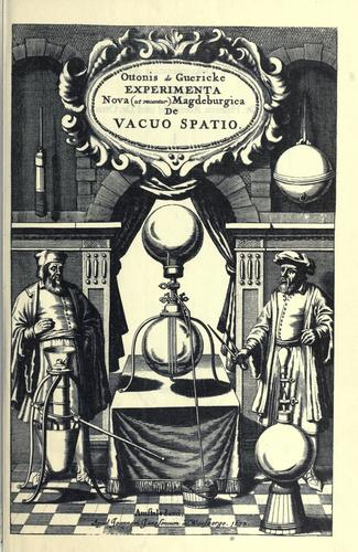 Download Experimenta nova (ut vocantur) magdeburgica de vacuo spatio.