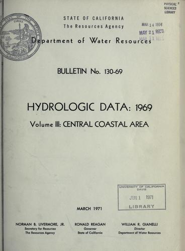 Download Hydrologic data, 1969.