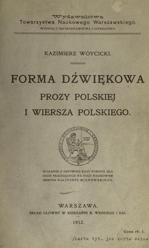 Download Forma dwikowa prozy polskiej i wiersza polskiego