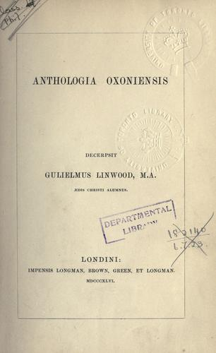 Anthologia oxoniensis