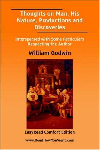 Download Thoughts on Man, His Nature, Productions and Discoveries EasyRead Comfort Edition