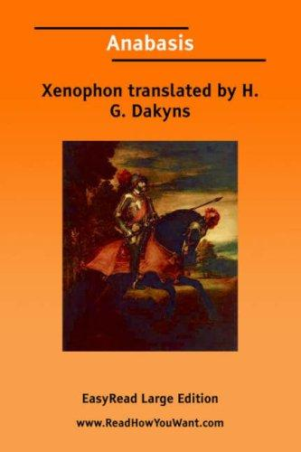 Download Anabasis EasyRead Large Edition