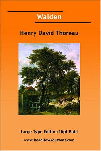 Walden (Large Print) by Henry David Thoreau
