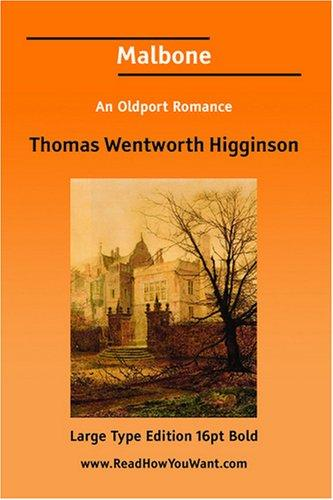 Download Malbone An Oldport Romance (Large Print)