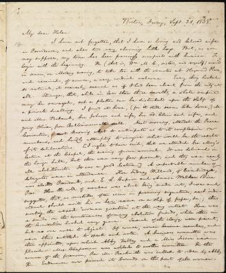 [Letter to] My dear Helen by William Lloyd Garrison