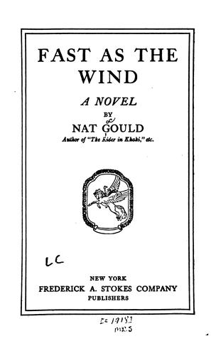 Fast as the Wind: A Novel by Nat Gould