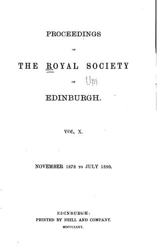 Proceedings of the Royal Society of Edinburgh by Royal Society of Edinburgh