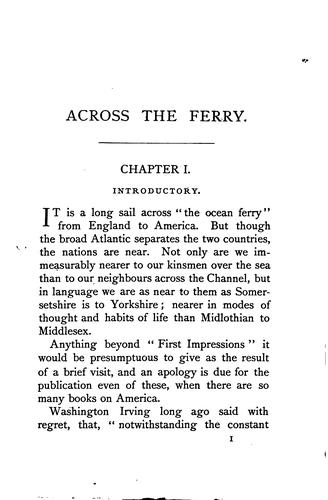 Across the ferry: first impressions of America and its people by James Macaulay