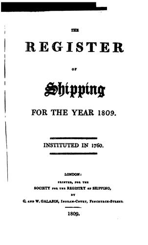 Lloyd's Register of Shipping by