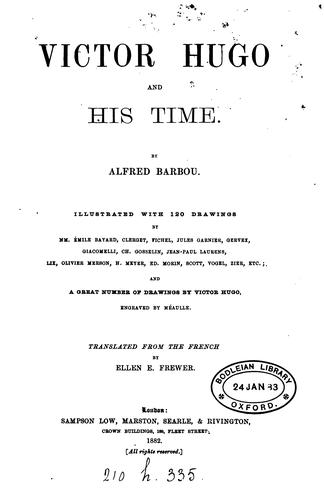 Victor Hugo and His Times by Alfred Barbou