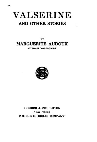 Valserine: And Other Stories by Marguerite Audoux