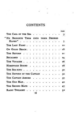 The Call of the Sea: And Other Poems by Lewis Frank Tooker