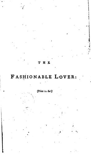 The Fashionable Lover: A Comedy by Richard Cumberland