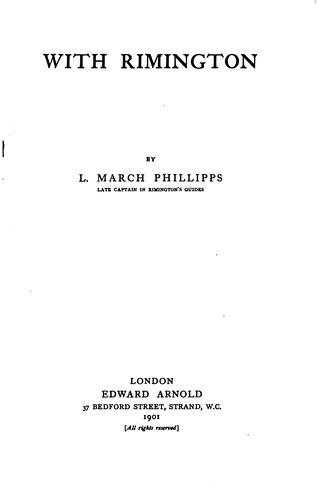 With Rimington by Lisle March Phillipps