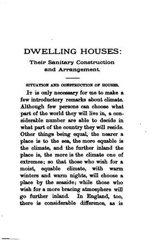 Dwelling Houses: Their Sanitary Construction and Arrangements by William Henry Corfield