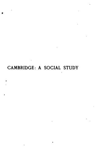 Cambridge: A Brief Study in Social Questions by Eglantyne Jebb