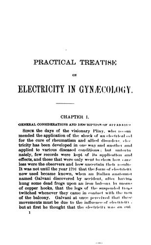 Practical treatise on electricity in gynæcology by Egbert Henry Grandin