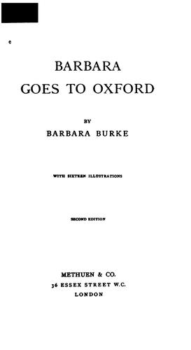 Barbara Goes to Oxford by Oona Howard Ball