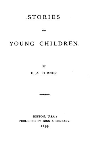 Stories for Young Children by Edwin Arthur Turner