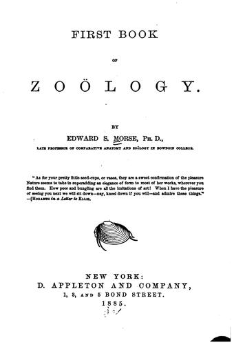 First Book of Zoölogy by Edward Sylvester Morse