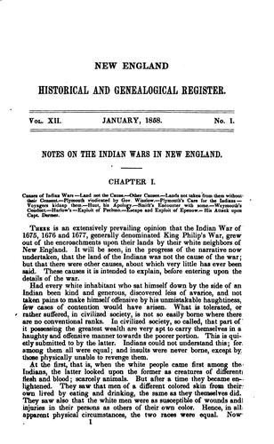 The New England Historical and Genealogical Register for the year 1858.VOLUME XII by Samuel G. Drake
