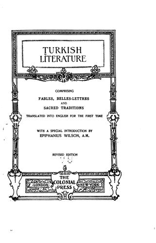 Turkish Literature by Epiphanius Wilson