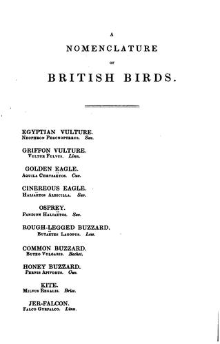 A nomenclature of British birds by Henry Doubleday