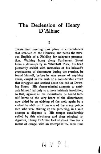 The Declension of Henry D'Albiac by Valentine Francis Taubman-Goldie