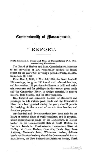 Annual Report by Board of Harbor and Land Commissioners of Massachusetts