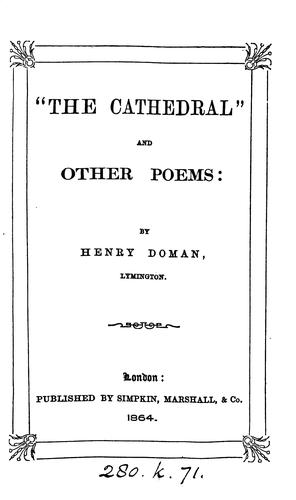"""The Cathedral"" and other Poems by Henry Doman"