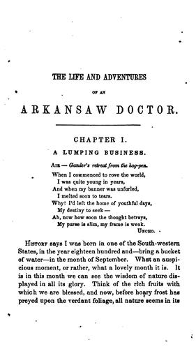 The Life and adventures of an Arkansas doctor by David Rattlehead