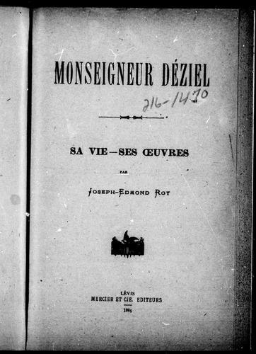Monseigneur Déziel