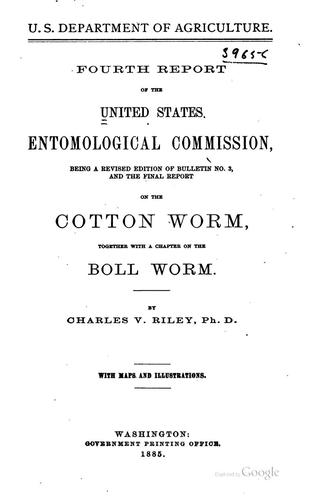 Report of the United States Entomological Commission: 1st-4th by United States Entomological commission