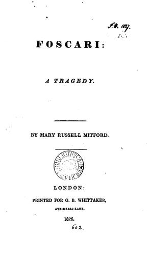 Foscari: a tragedy by Mary Russell Mitford