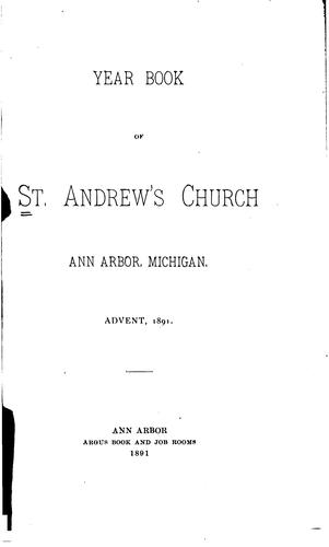 Year Book by Ann Arbor (Mich.) St . Andrew's Church