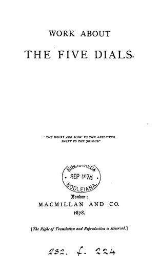 Work about the Five dials [by the hon A.M. Stanley] by Alethea Maude Stanley
