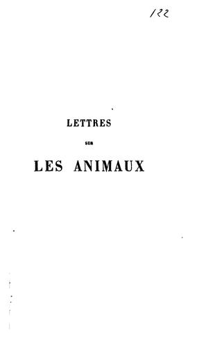 Lettres sur les animaux by Charles Georges Leroy